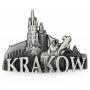 Magnet frigo en métal panorama Marché de Cracovie