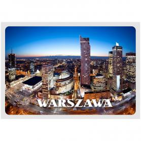 3D Postkarte Warschau Zentrum