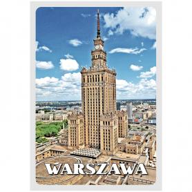 3D Postkarte Warschauer Kulturpalast
