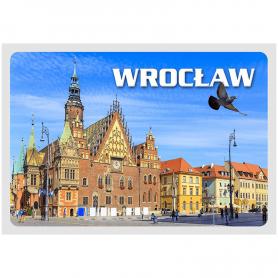 Postkarte 3D Breslau Ratusz