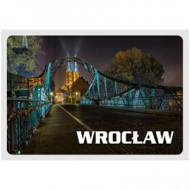 Postkarte 3D Wroclaw Tumski Brücke