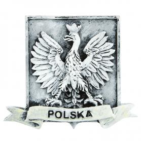 Aimant de réfrigérateur noir et blanc Embleme de la Pologne