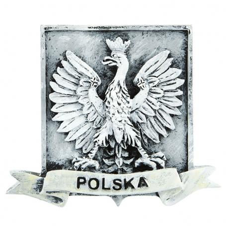 Magnes na lodówkę czarno-biały Polska godło