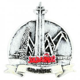 Magnes na lodówkę czarno-biały Gdańsk Stocznia