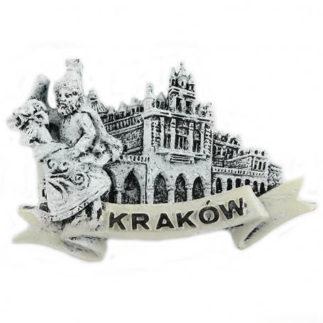Magnes na lodówkę czarno-biały Kraków Sukiennice