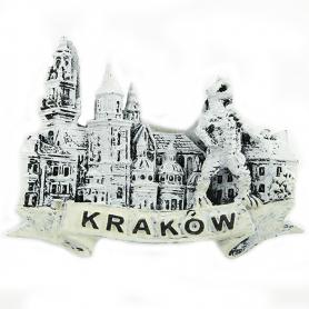 Magnes na lodówkę czarno-biały Kraków Wawel