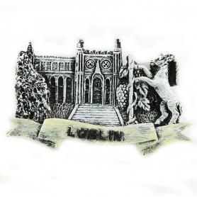 Black and white fridge magnet Lublin Castle