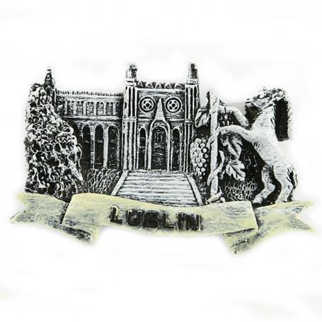 Aimant frigo noir et blanc Château de Lublin