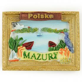 Ein Kühlschrankmagnetbild von Masuren Polen