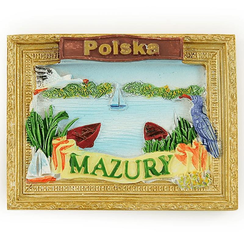Un aimant de réfrigérateur photo de Mazury en Pologne