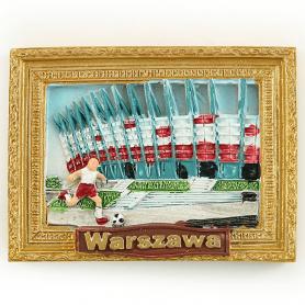 Fridge magnet picture of Warsaw National Stadium