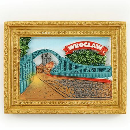 Imán de nevera imagen Wroclaw en la noche