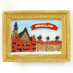 Fridge magnet picture Wroclaw Market