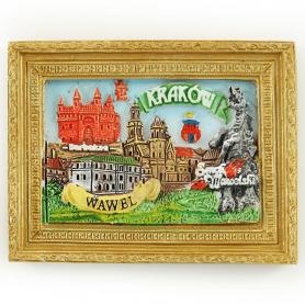 Fridge magnet picture Wawel Krakow