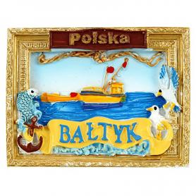 Fridge magnet picture Poland Baltic Sea
