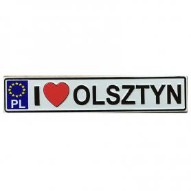 Fridge magnet, license plate Olsztyn