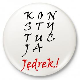 Knopfabzeichen, Stift KONSTITUTION Jędrek!