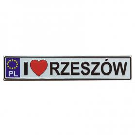 Metalowy magnes na lodówkę tablica rejestracyjna Rzeszów