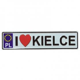 Metal fridge magnet with license plate Kielce
