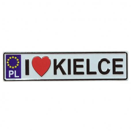 Aimant frigo en métal avec plaque d'immatriculation Kielce