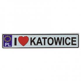 Metalowy magnes na lodówkę tablica rejestracyjna Katowice