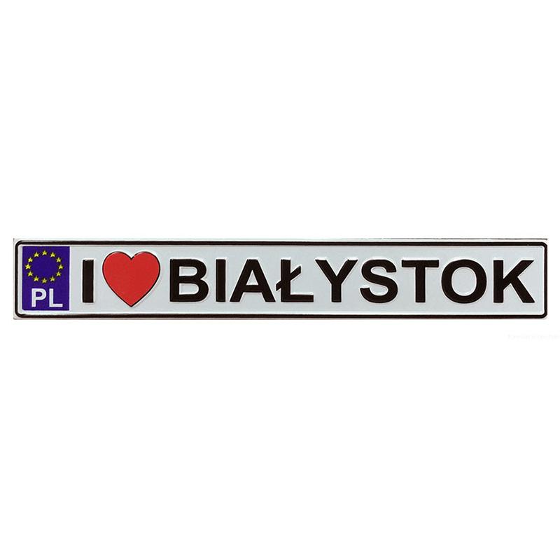Plaque d'immatriculation de frigo en métal Białystok