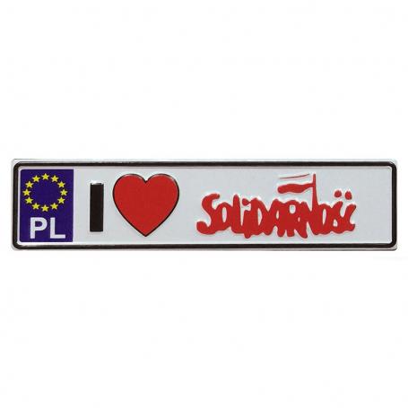 Metalowy magnes na lodówkę tablica rejestracyjna Solidarność
