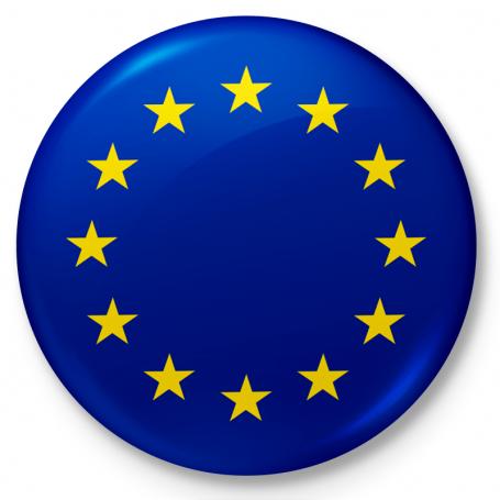 Button przypinka, pin flaga Unii Europejskiej