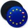 Bouton aimant réfrigérateur Pologne-Union européenne