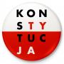Button przypinka, pin KONSTYTUCJA biało-czerwona