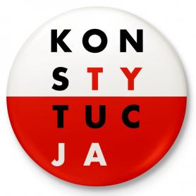 Knopfabzeichen, Stift CONSTITUTION weiß und rot