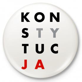 Knopf Kühlschrankmagnet KONSTITUTION
