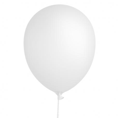 Ballon blanc standard 30 cm avec un bâton