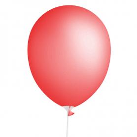 Balon czerwony Standard 30 cm z patyczkiem