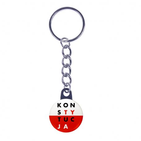 Porte-clés CONSTITUTION blanc et rouge