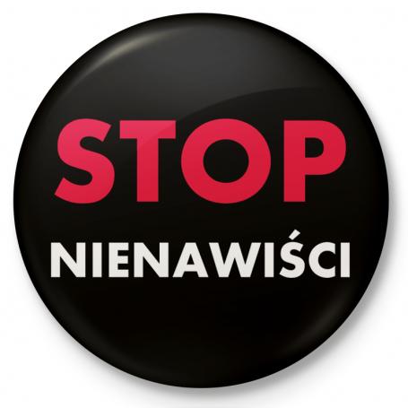 Insignia del botón, STOP pin HATE