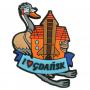 Aimant frigo en caoutchouc Gdańsk - grue