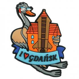 Rubber fridge magnet Gdańsk - crane