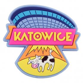 Rubber fridge magnet Katowice - UFO