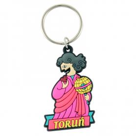 Rubber key ring Toruń - Copernicus