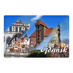 Fridge magnet 2D changing images of Gdańsk