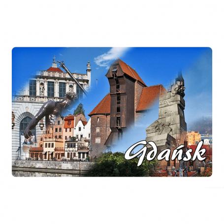 Réfrigérateur aimant 2D images changeantes de Gdańsk