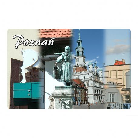 Réfrigérateur aimant 2D images changeantes de Poznań
