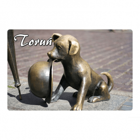 Fridge magnet 2D changing images of Toruń