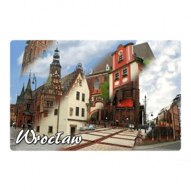 Fridge magnet 2D changing images of Wroclaw