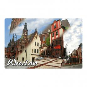 Kühlschrankmagnet 2D wechselnde Bilder von Breslau