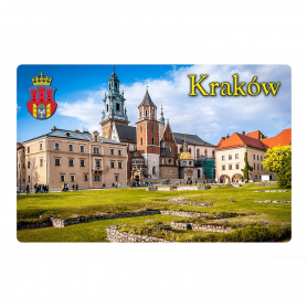 Refrigerator magnet with a 3D effect. Krakow. Wawel Royal Cathedral