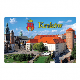 Refrigerator magnet with a 3D effect. Cracow, Wawel