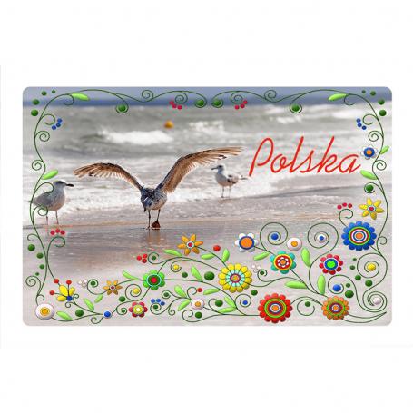 Magnes na lodówkę z efektem 3D Polska Kaszuby