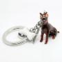 Porte-clés ANIMALS chien doberman - charmes a'la